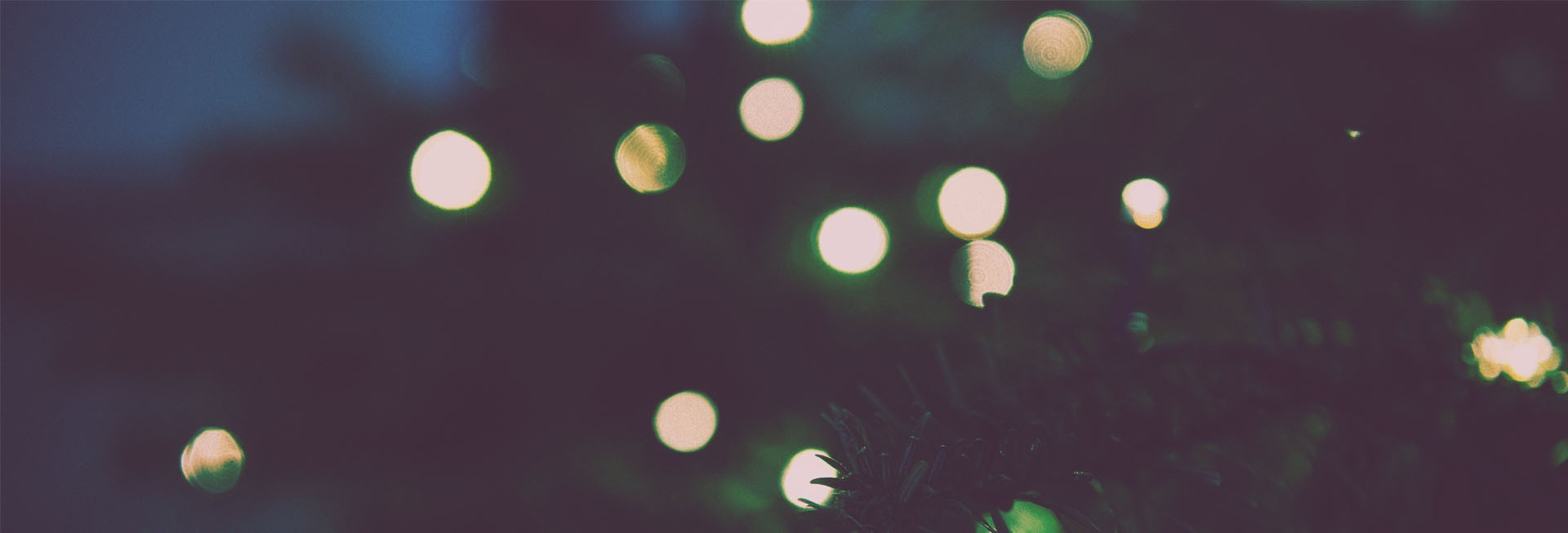 Christmas Tree Lights Church Website Banner